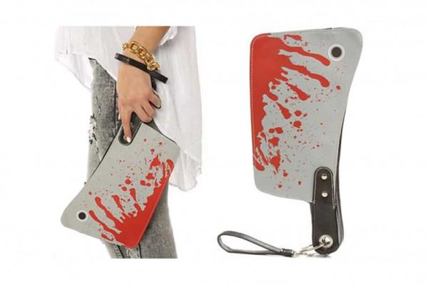 Butchers Clutch Purse Blut Hackbeil Damen Handtasche