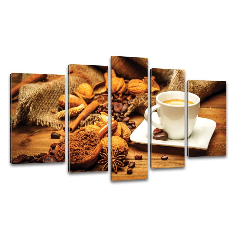 Cafe auf Leinwand Kunstdruck