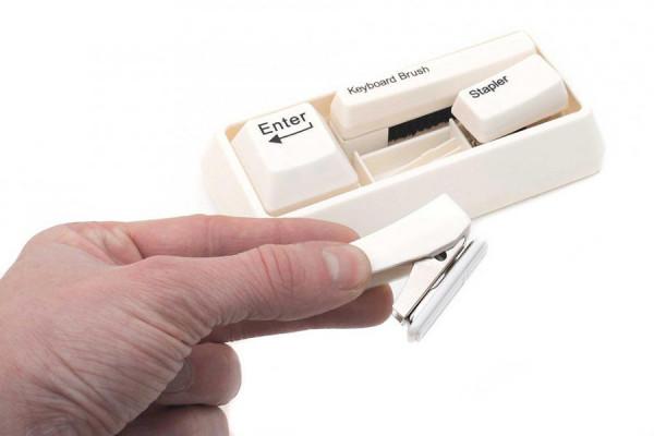 Büro-Set Schreibtisch Utensilien Tastatur-Look