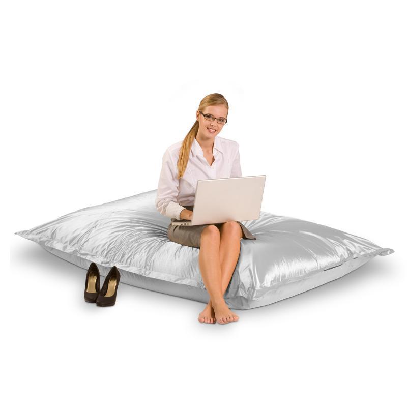 Sitzsack metallic silber