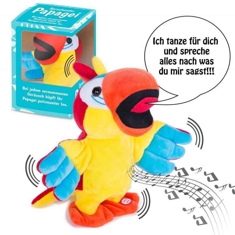 Sprechender Papagei tanzt