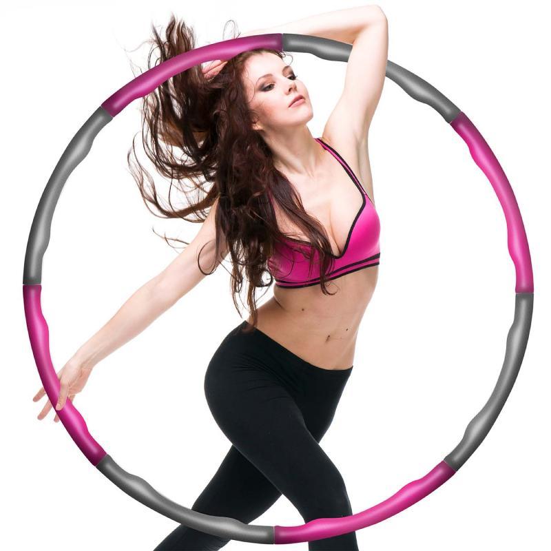Hula Fitness Reifen - Hoop Gymnastikreifen zum Abnehmen mit 6-8 Segmenten