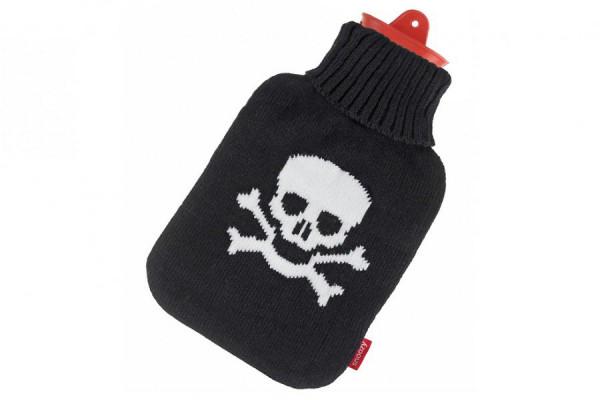 Snoozy Wärmflasche 2 Liter mit Pirat Totenkopf Bezug