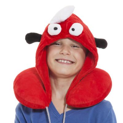 Nackenkissen mit Kapuze - süßes Nackenkissen für Kinder