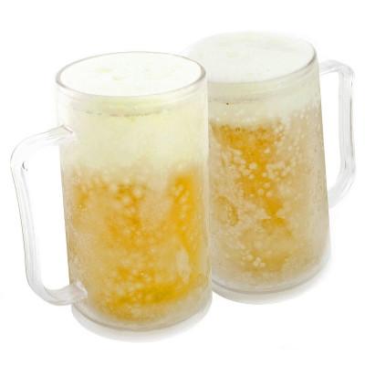 Gefrorener Bierkrug: Kühlbecher für kalte Getränke 24 Versand