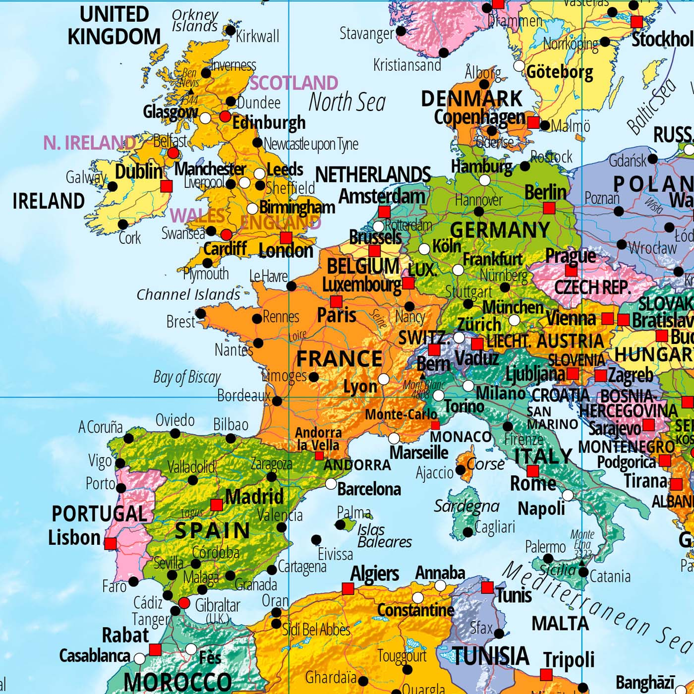 Originelle geschenkideen und bilderrahmen ideen for Weltkarte poster ikea