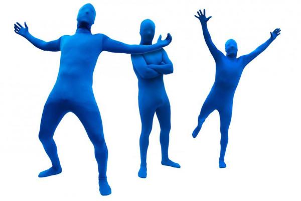 Blue Man Morph Anzug Blue Suit Ganzkörperanzug