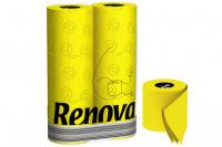 Gelbes Toilettenpapier » 6 Rollen Renova Klopapier Gelb
