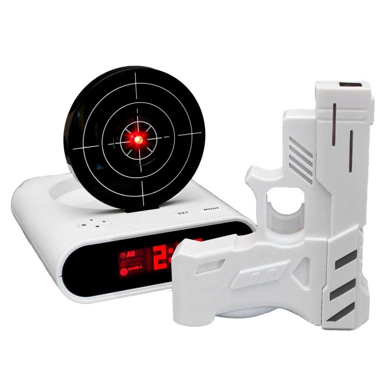 Gadget Wecker mit Infrarot Laser Pistole