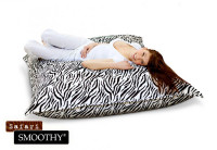 Smoothy Sitzsack Safari Edition Samtbezug Zebra