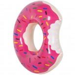 Aufblasbarer Donut Schwimmring - Schwimmreifen pink & braun