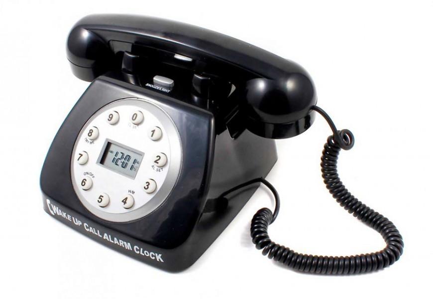 Telefon Wecker mit Weckruf im Retro Design kaufen » 24h Versand