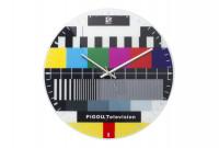 Testbild Uhr TV Wanduhr Störbild