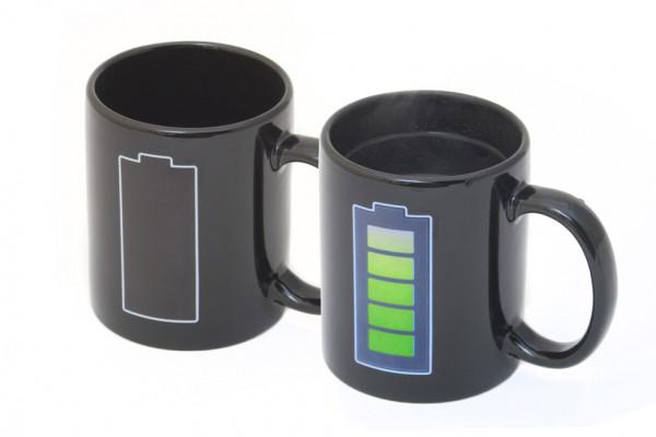 Akku Tasse mit Thermoeffekt Batterie Kaffeetasse