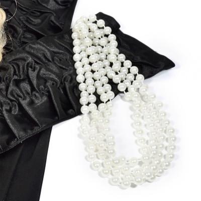 Charleston Perlenkette 20er Jahre Halskette mit Perlen 180cm