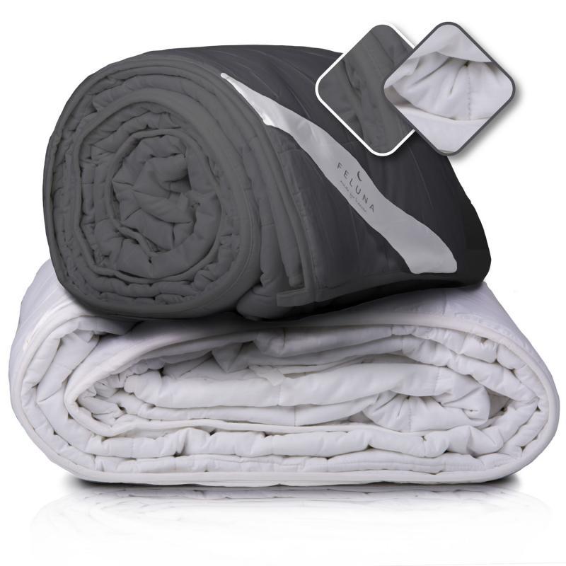 Gewichtsdecke Feluna grau und weiß