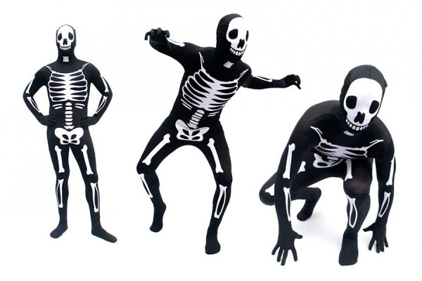 Skelett Morph Anzug Halloween Kostüm Spandex Lycra Suit