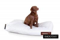 Smoothy Hundebett - Hundekissen Classic XXL - Grau-Weiß