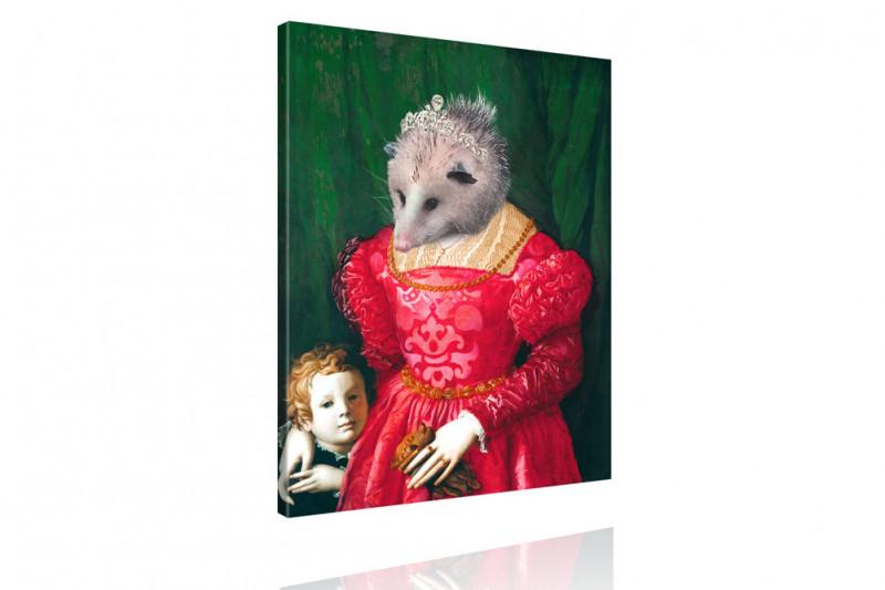 Tierportrait Igel Opossum