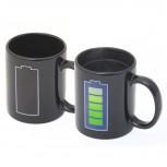 Thermo Tasse - Kaffeetasse mit Batterie-Anzeige - Geheimshop.de