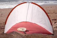 Strandmuschel: Strandzelt - PopUp Zelt für den Strand
