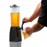 Biertower XXL Biersäule 4 Liter Getränkesäule mit Zapfhahn