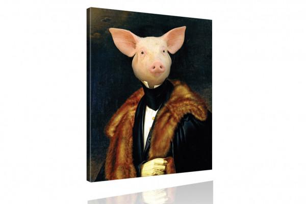 Kunstdruck: Gemälde mit Twist - Herzog von Schwein