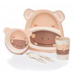 Kindergeschirr aus Bambus - Bambusgeschirr für Kinder - Hippo