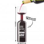 Jumbo Weinglas XXL - Weinflasche in Form eines Glases 750ml