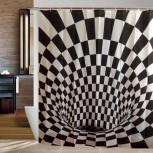 Duschvorhang mit optischer Täuschung 3D Illusion - Geheimshop.de