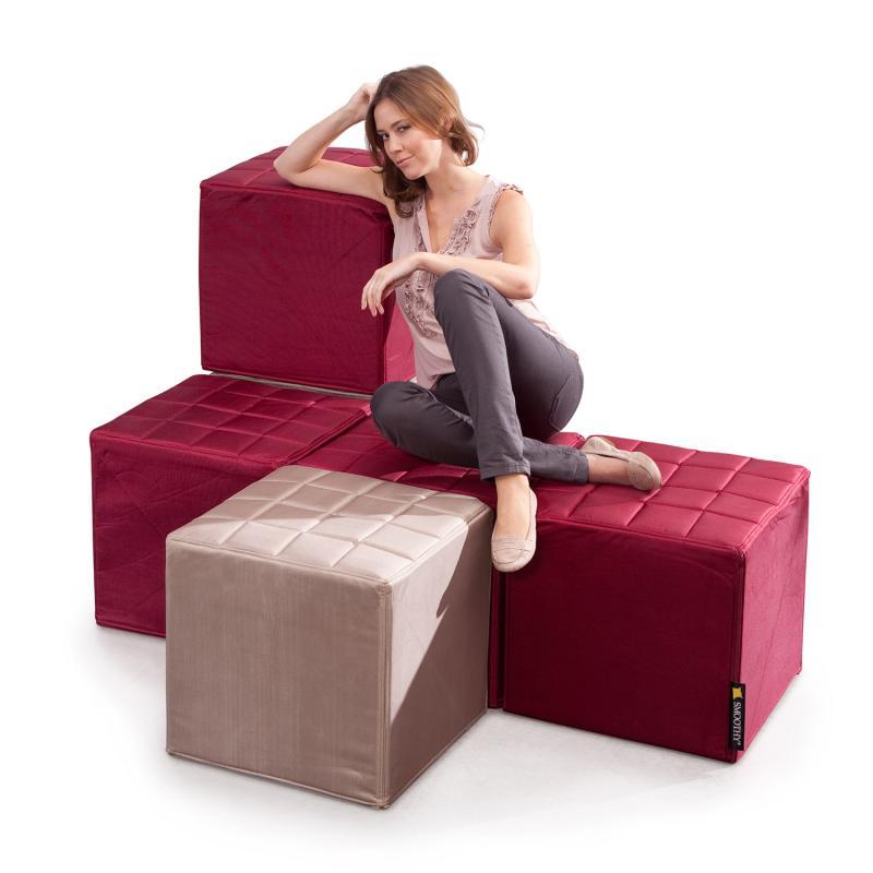 Cube Sitzwürfel Bordeaux