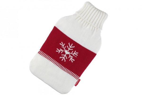 Wärmflaschen Bezug Schneeflocke