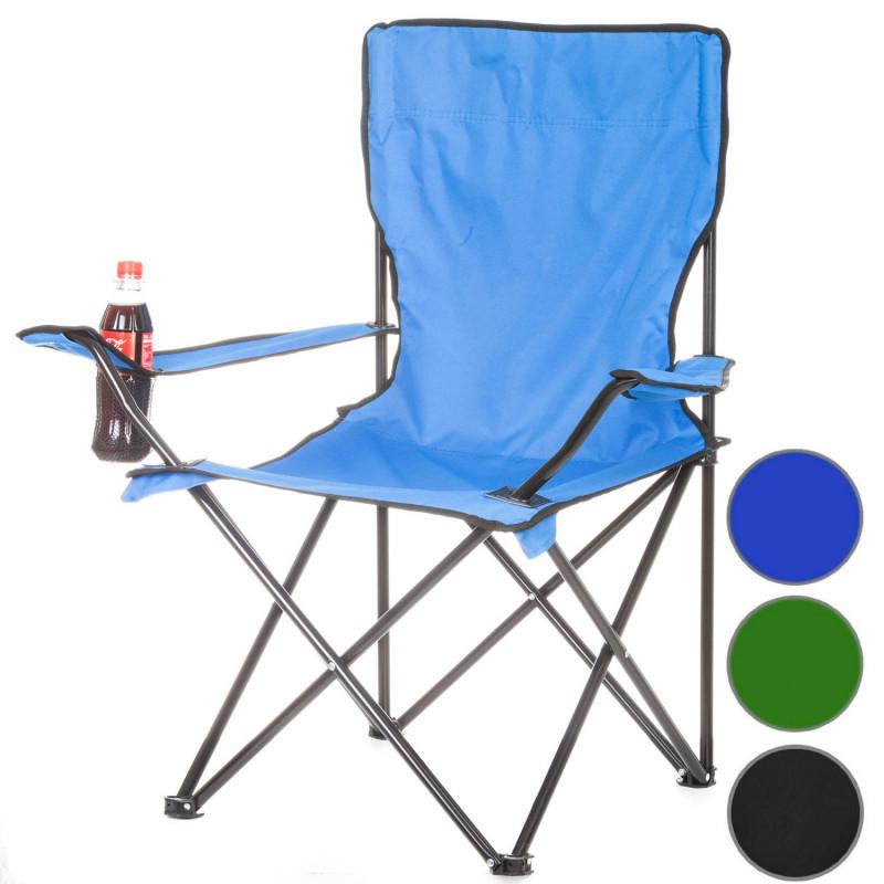 blauer Campinghocker