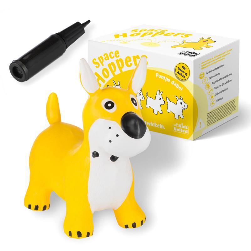 Hüpfpferd Hund Gelb