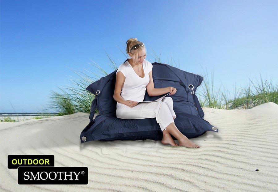 smoothy sitzsack outdoor supreme in mitternachts blau. Black Bedroom Furniture Sets. Home Design Ideas