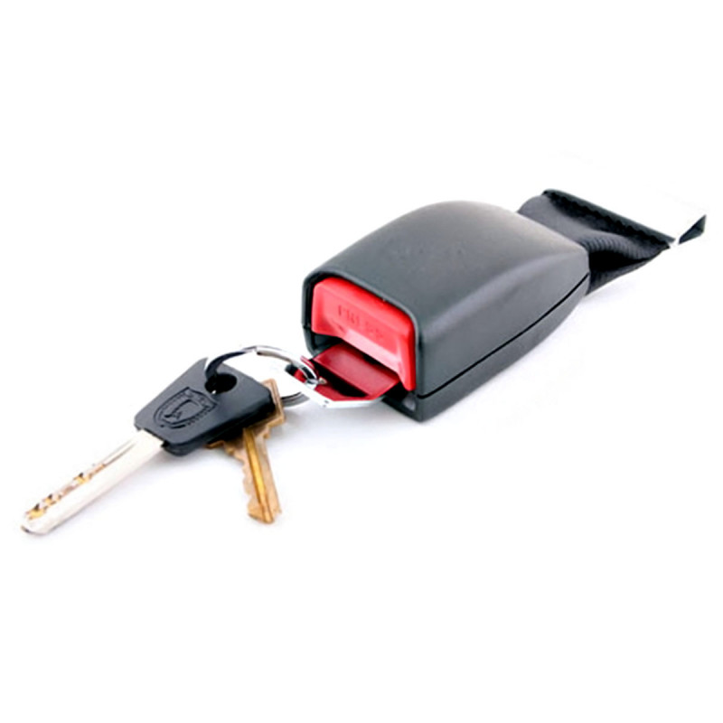 Schlüsselhalter im Design eines Auto Sicherheitsgurts