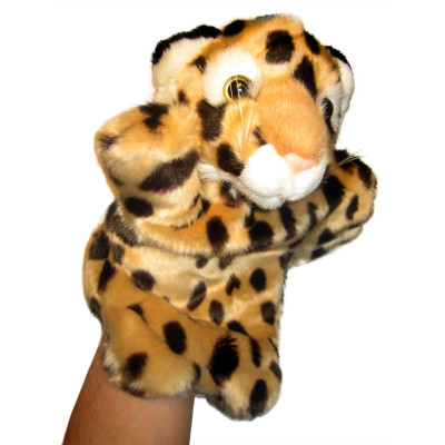 Handpuppe - Handspielpuppe aus Plüsch - Leopard