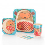 Kindergeschirr aus Bambus - Bambusgeschirr für Kinder - Igel