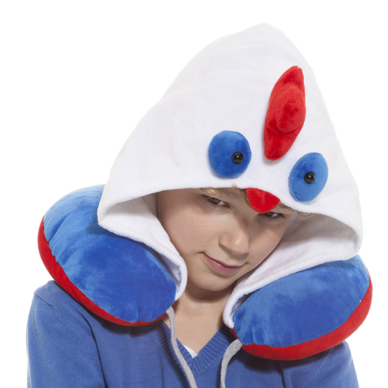 Nackenkissen für Kinder mit Kapuze