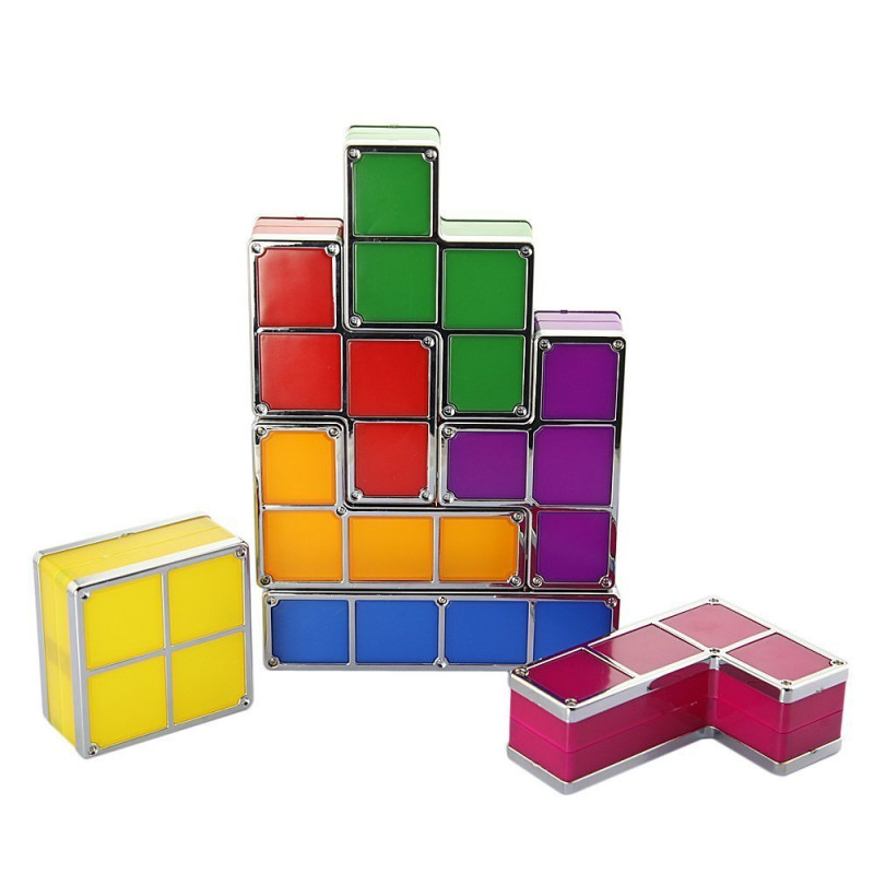 Magic blocks lampe aus tetris bausteinen