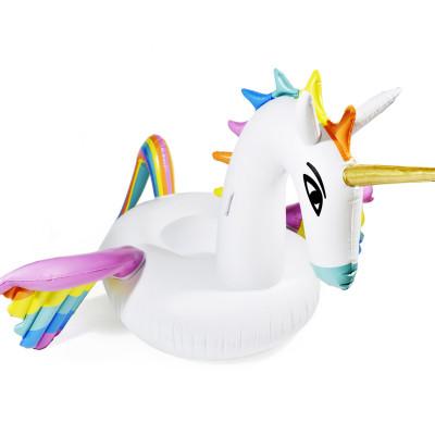 Aufblasbare Einhorn Luftmatratze Unicorn Badeinsel Matratze XXL