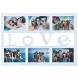 Bilderrahmen Love 50 x 33 cm für 6 Fotos