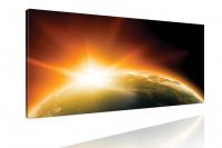 Sunrise Kunstdruck: Sonnenaufgang aus del Weltraum 120x50cm