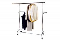 Rollbarer Kleiderständer: Garderobe aus Edelstahl