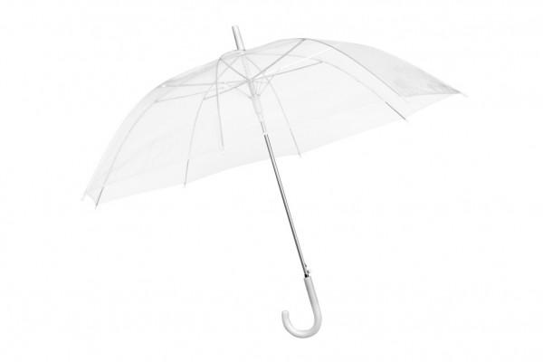 Transparenter Regenschirm durchsichtiger Schirm weiß