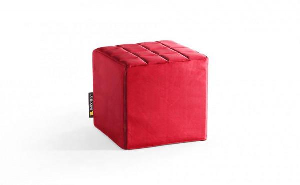 Smoothy Cube Lounge Sitzwürfel Rot