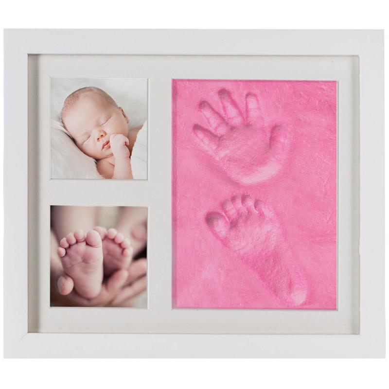 Baby Handabdruck Fussabdruck Bilderrahmen Set mit Fotos