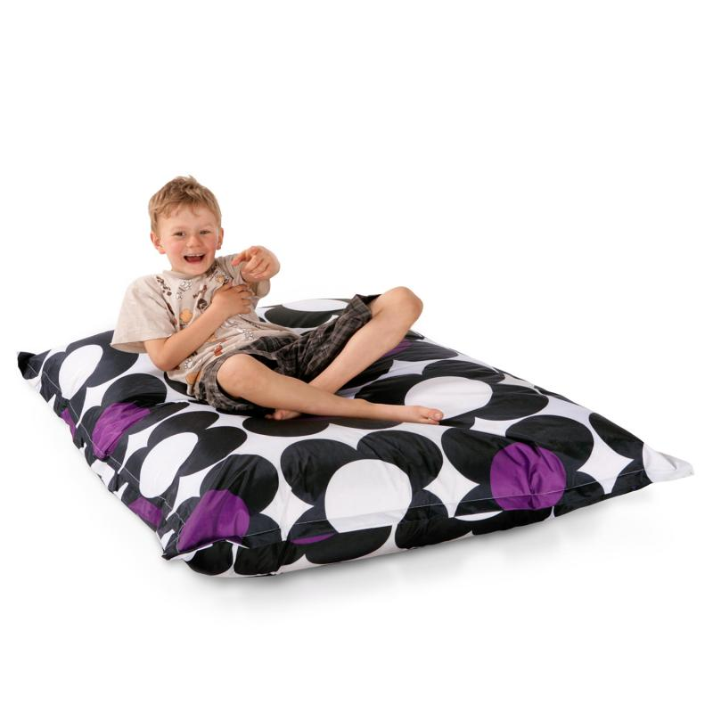 Sitzsack Junior Nightflower Schwarz Lila