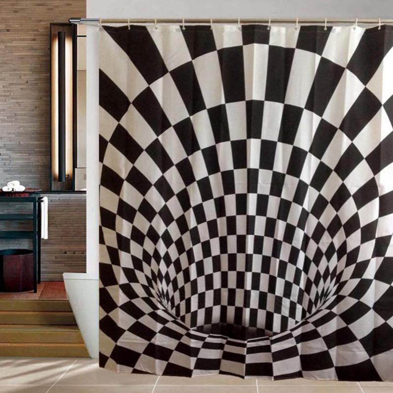 Duschvorhang optische Täuschung