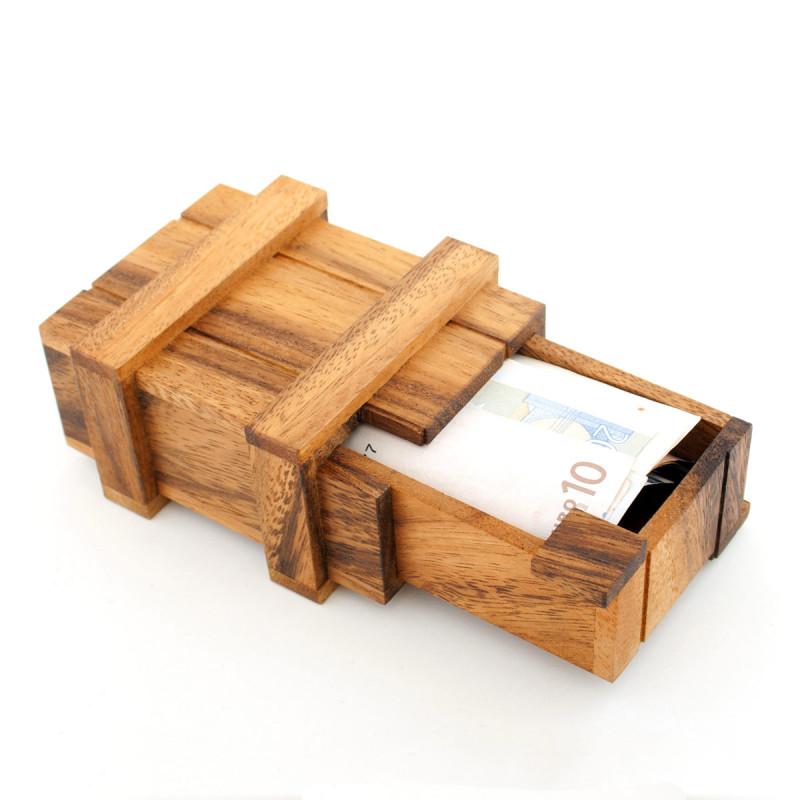 Geld Zauberkiste aus Holz